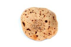 Wheat flour chapati. Isolated on white background Stock Photos