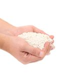 Wheat flour in hands. Stock Photography