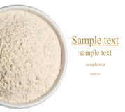 Wheat flour in a plate Royalty Free Stock Images