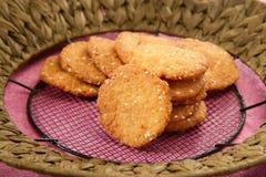 Wheat Flour Sweet Mathri  Atta ki Meethi Mathri Royalty Free Stock Photo