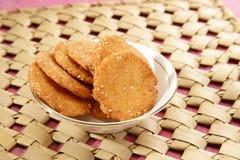 Wheat Flour Sweet Mathri  Atta ki Meethi Mathri Royalty Free Stock Photography