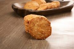 Wheat Flour Sweet Mathri or Atta ki Meethi Mathri.  stock images