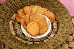 Wheat Flour Sweet Mathri or Atta ki Meethi Mathri.  stock photos