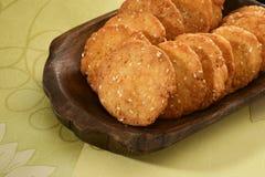 Wheat Flour Sweet Mathri  Atta ki Meethi Mathri Stock Photography