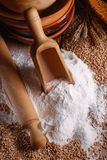 Wheat flour on the table Stock Photography