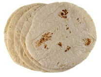 Wheat flour tortillas Stock Photography