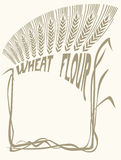 Wheat flour vignette Stock Photos