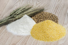 Wheat and flours Stock Photo
