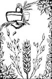 Wheat frame Stock Image