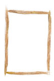 Wheat frame. Picture frame made of golden wheat Stock Photo