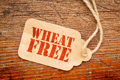 Wheat free sign  paper price tag Royalty Free Stock Image