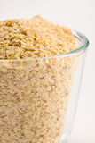 Wheat germ. In glass bowl Stock Image