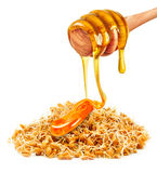 Wheat germ and honey Stock Images