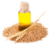 Wheat germ oil royalty free stock photography