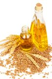 Wheat germ oil. On white background Stock Image