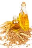 Wheat germ oil stock image