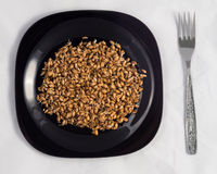 Wheat germ in the plate Royalty Free Stock Image