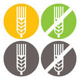 Wheat and Gluten Free Signs Royalty Free Stock Image