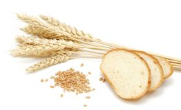 Wheat and grain. On a white background Stock Image
