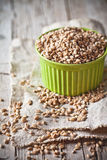 Wheat grain in bowl Royalty Free Stock Images