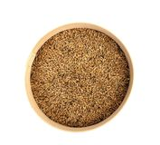 Wheat grain into sieve. Stock Images