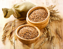 Wheat grains Stock Photos