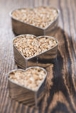 Wheat Grains (in heart shapes) Royalty Free Stock Image