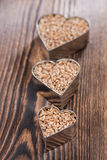 Wheat Grains (in heart shapes) Royalty Free Stock Photography