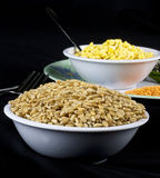 Wheat and Gram Dal or Pulses. In a bowl royalty free stock photo