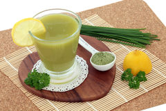 Wheat Grass Health Drink Royalty Free Stock Photography