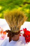 Wheat Harvest Wedding Decor Stock Image