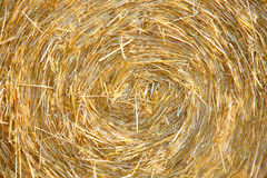 Wheat Haystack in farmer field Stock Photos