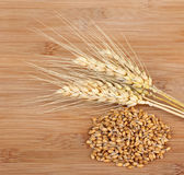 Wheat Heads and Wheat Grain Royalty Free Stock Images