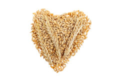 Wheat heart Royalty Free Stock Images