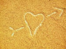 Wheat at Heart with arrow Royalty Free Stock Photography