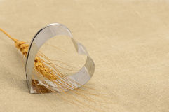 Wheat in heart shaped Royalty Free Stock Photography