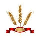 Wheat icon. White background,  illustration Stock Images