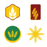 Wheat icon set Stock Images