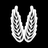Wheat icon, Wheat ears on dark background. Simple vector icon Royalty Free Stock Photography
