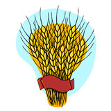 Wheat illustration Stock Photo