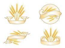 Wheat Label Set Stock Photos