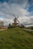 Wheat mill in Wolphaartsdijk, The Netherlands during tempestuous Stock Photography