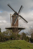 Wheat mill in Wolphaartsdijk, The Netherlands during tempestuous Royalty Free Stock Images