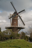 Wheat mill in Wolphaartsdijk, The Netherlands during tempestuous Stock Photos