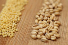 Wheat and millet Stock Photo