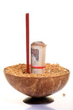 Wheat and money Stock Image