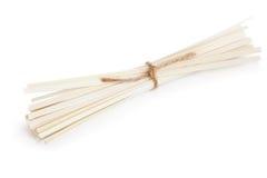 Wheat noodles. On a white background Stock Photos