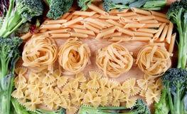 Wheat pasta frame Royalty Free Stock Photo