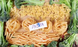 Wheat pasta frame Royalty Free Stock Photography