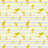 Wheat pattern background. Gold autumn wheat pattern background royalty free illustration